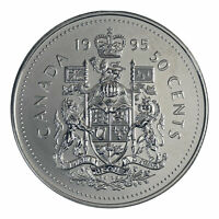 """1995 BU Canada 50 Cents Coin (100% Nickel)    """"LOW MINTAGE AND UNCIRCULATED"""""""