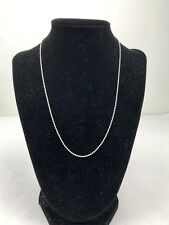 """Sterling Silver 925 Ball Beaded Chain Necklace 16"""" 2.7g Silver Spring Clasp"""