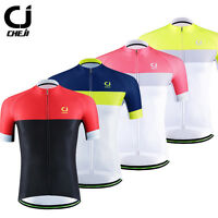 CHEJI Men's Retro Cycling Jersey Short Sleeve Bike Bicycle Shirt Tops Reflective