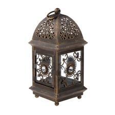 Antique Vintage Metal Large Garden Lantern Candle Holder Indoor Outdoor
