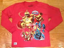 #90 Skylanders  Boys Size  Large Red  Long Sleeve T-Shirt Bouncer