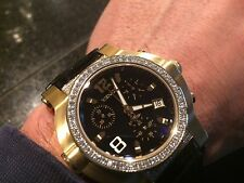 RENATO BEAST DIAMOND SWISS YELLOW GOLD & ALLIGATOR BLACK DIAL WATCH L.E.50