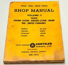 Chrysler 1960, 1961, 1962, 1963 Volume II Shop Manual Cooling, Ignition, Engine
