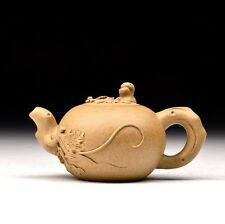 "Chinese Yixing Zisha Clay Handmade ""Grape"" Teapot 180cc"