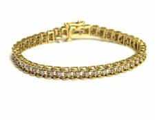 14k Yellow Gold 7 Ct. Diamond Tennis Bracelet