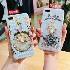 Cute Disney Alice Princess Garden rabbit gel case Cover for iPhone X 8 6s 7 Plus