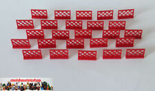 Lego® 25X Zaunelement Gitter Zäune Fence 1X4X2 Rot 3185