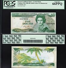 EAST CARIBBEAN 5 DOLLARS, 1986-1988, PCGS 66 GEM NEW (UNC) PPQ, P-18M MONTSERRAT