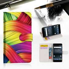 Meaningful Abstract Wallet Case Cover For Nokia 6 2018 -- A020