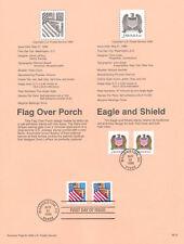 #9615 10c/32c Eagle/Flag Stamps #2907//21 USPS Souvenir Page