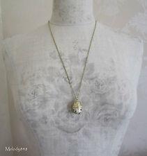 PILGRIM Necklace Small Opening BABUSHKA Russian Doll Gold Cream BNWT Last Ones!