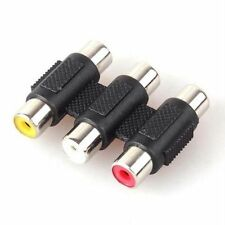 3 RCA AV Audio Video Coupler Female to RCA Female Adapter Joiner Connector