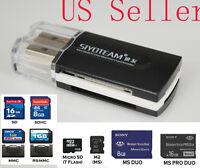 USB Multi Card Reader Adapter - SD MMC RS MMC M2 MS MS Pro MS Duo Micro Mini SD