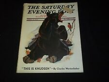 1937 APRIL 17 SATURDAY EVENING POST MAGAZINE - ILLUSTRATED FRONT COVER - GG 331