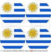 """URUGUAY Uruguayan 50mm (2"""") Vinyl Bumper-Helmet Stickers, Decals x4"""