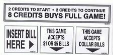 NBA Hangtime or Maximum hangtime Coin Door Stickers New! Free Shipping!!