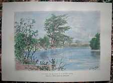 1892 Reclus print SABINE RIVER, TEXAS / LOUISIANA (#28)