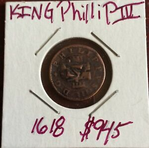 1618 King Phillip lll 8 Reales Counter Stamped VI Copper Struck