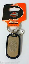 Harley-Davidson Rubber Tag Bar & Shield Metal Key Chain Dog Tag NEW