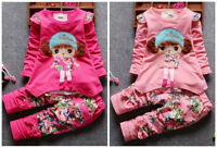 2pcs baby clothes girls cotton spring fall outfits Top+pants floral outfits girl