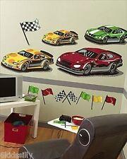 Raceway Wallies Big Mural Race Car Speedway Wallpaper Decals New in Package