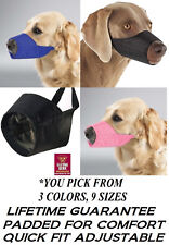 Guardian Gear No Bite Bark Dog Muzzle Lined QuickFit Nylon Adjustable Training