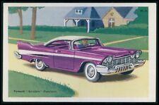 Plymouth Belvedere USA Automobile car original old 1950s Tobler postcard