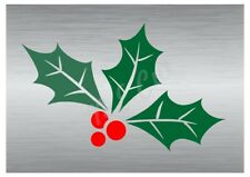 Christmas Holly leaves stencil A5 to A0 14cm to 1.2 meters or bigger CMAS056