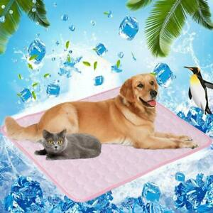 EE_ Summer Pet Dog Cat Self Cooling Mat Heat Relief Mesh Cool Sleeping Cushion P