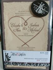 NEW! Tan/Brown 25 Count Wedding Invitations With Reply Cards & Envelopes