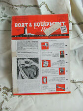 Boat & Equipment News Magazine 1946 Industry Building Products Parts Ads Rare!