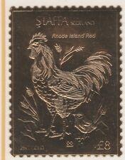 GB Locals Staffa 5246 - Oiseaux Rhode Island Rouge (F) 23 CARAT feuille d'OR U /