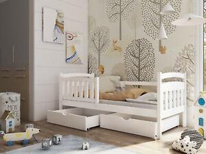 Kinderbett, Einzelbett PAULA inkl. Lattenrost, robustes Massivholz, NEU!