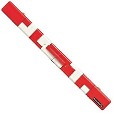 Powerglide Pool Snooker Billiard Deluxe Patchwork RED Cue Storage Carry Case