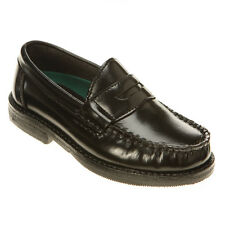 School Shoes Boys Hush Puppies Black Penny Loafer Youth Size 13 1/2 M
