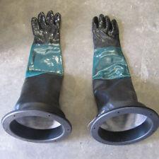 23.6'' Heavy Duty Gloves & 2 Glove Holders for Sandblasting Sand Blast Cabinet