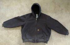 Carhartt Heavy Thick Brown Hooded Winter Jacket Men's 2XL