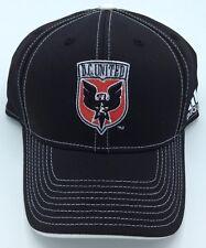 MLS DC United Adidas Adult Structured Curved Brim Flex Fit Cap Hat NEW!
