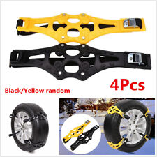 4pc Car Snow Tire Anti-Skid Chains Winter Safety Wheel Tyres Chain PTU Thickened