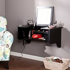 SEI Wall Mount Ledge With Vanity Mirror - Black HZ7589