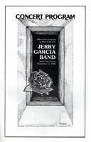 JERRY GARCIA 1982 CONCERT PROGRAM-FELT FORUM MSG-NEW YORK-GRATEFUL DEAD-NM 2 MNT