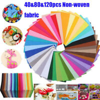 40pcs Mix Colour Squares Non Woven Felt Fabric Sheets For Kids DIY Art Handmade