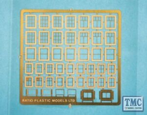 310 Ratio N Gauge Domestic Windows Etched Brass Kit