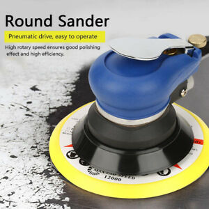 "6""10000RPM Air Random Orbital Sander Dual Hand Sanding Tool Pneumatic Round Kit"