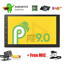 Android 9.0 Universal Double DIN Touch Screen Car Stereo Radio GPS Wifi DAB+Cam