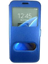 Etui Housse Coque Pochette View Case BLEU NUIT pour Samsung Galaxy S7 Edge