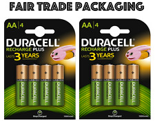 8 X Duracell Rechargeable AA 1300 mAh Piles Rechargeables NiMH HR6 Accu Stay Charged