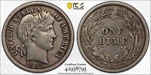 1895-O Barber Dime ---- KEY DATE PCGS XF Details ----  #017A
