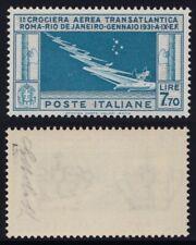 Regno 1930 Posta Aerea L. 7,70 Balbo nuovo MNH** gomma integra firma G. Bolaffi