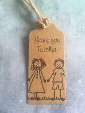 Teachers Gift Tags Thank You Bottle Ties x6
